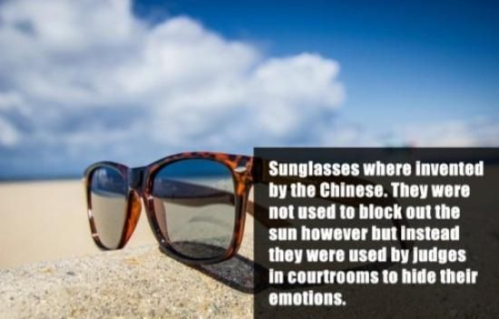 Interesting Fact About Sunglasses
