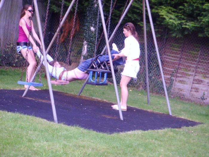 Mel Got Stuck In A Swing