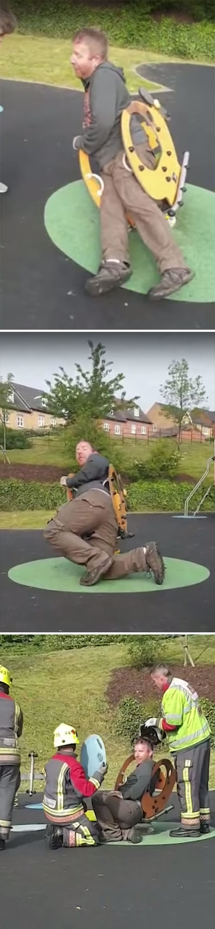 Dad Stuck In Playground Spring Rocker